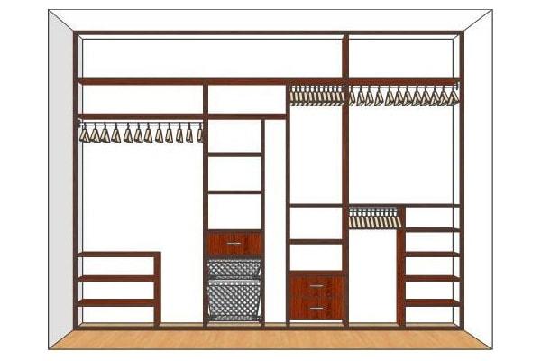 Встроенный шкаф купе недорого
