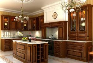 Кухни на заказ из дерева в Санкт-Петербурге